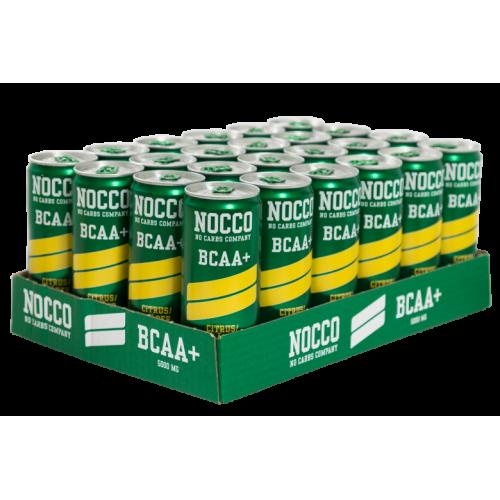 NOCCO BCAA+ Citron:Hyldeblomst 330ml (Uden koffein)24stk