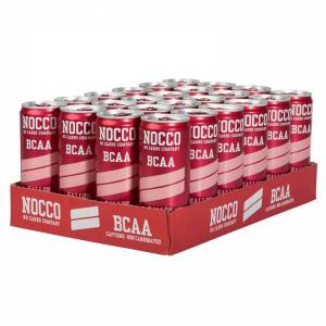 NOCCO BCAA Hindbær 330ml (Uden Kuldioxid) 24 stk